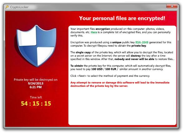 cryptolocker virüsü temizleme